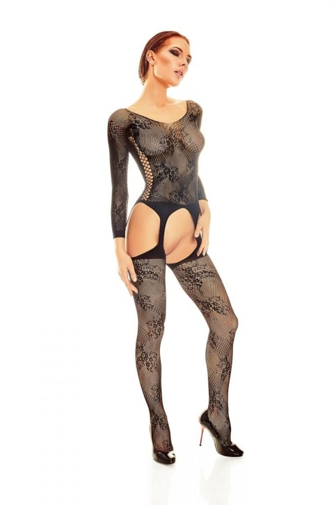 schwarzes Bodystocking AA052162 von Anais Apparel Luxury Lingerie